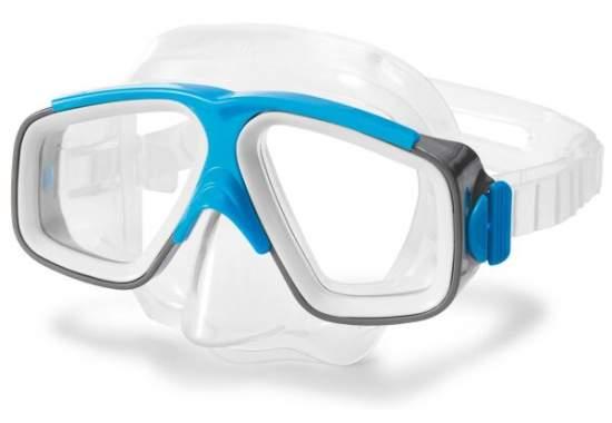 Intex 55975-blue, маска для плавания, серо-голубая