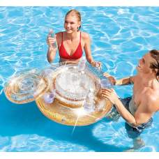 Intex 56810-gold, плаваючий термо-резервуар з подстаканниками, 76см