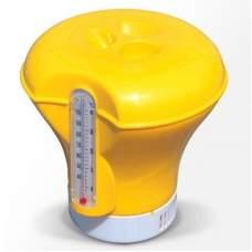 Bestway 58209-yellow, плаваючий поплавок-дозатор для хімії з термометром, 2 в 1