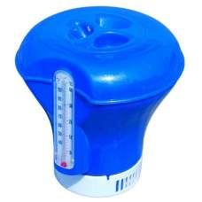 Bestway 58209-blue, плавающий поплавок-дозатор для химии с термометром, 2 в 1