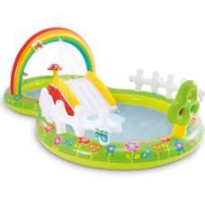 Intex 57154, детский надувной центр бассейн с горкой Мой Сад