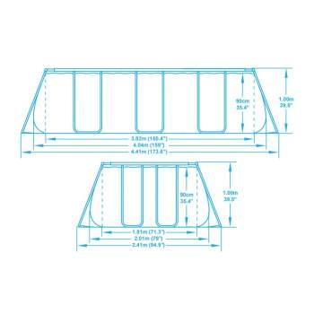 Bestway 56441BW, каркасний басейн 404 x 201 x 100 см Ultra Frame Rectangular