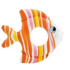 Intex 59223-orange, надувной круг Тропическая Рыбка, Оранжевая, 81см