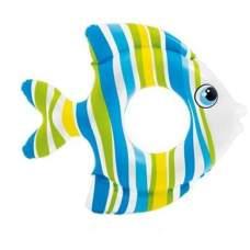 Intex 59223-blue, надувной круг Тропическая Рыбка, Голубая, 81см