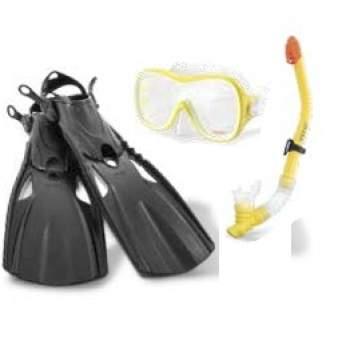 Intex 55658, набір для плавання: маска, трубка, ласти, від 8 років