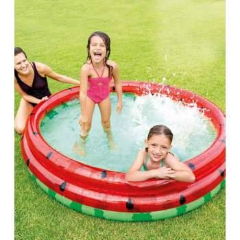 Intex 58448, надувний дитячий басейн кавун 168x38 см