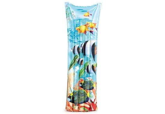 Intex 59720-fish, надувной матрас для плавания. Морские Рыбы, 183x69см