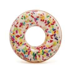 Intex 56263, надувной круг Пончик с присыпкой, 114 см