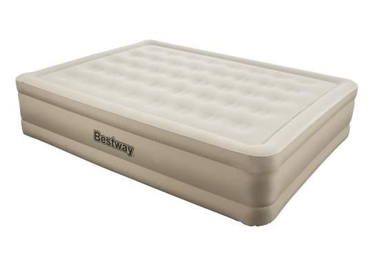 Bestway 69011, надувне ліжко 203 x 152 x 43 см з підголовником
