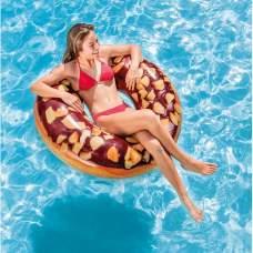 Intex 56262, надувний круг шоколадний Пончик з горіхами, 114 см