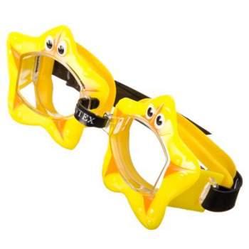 Intex 55603-yellow, детские очки для плавания, Обитатели моря. Звездочки