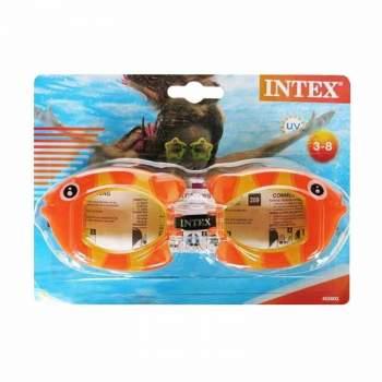 Intex 55603-orange, детские очки для плавания, Обитатели моря. Рыбки
