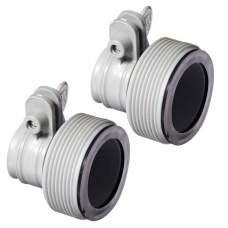 Intex 29061, Комплект из 2-х адаптеров, муфты-переходы для песчаных фильтров и бассейнов. D-38-32мм (10722, 56236)