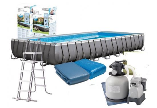 Intex 26374, каркасный бассейн 975 x 488 x 132 см Ultra Frame Pool