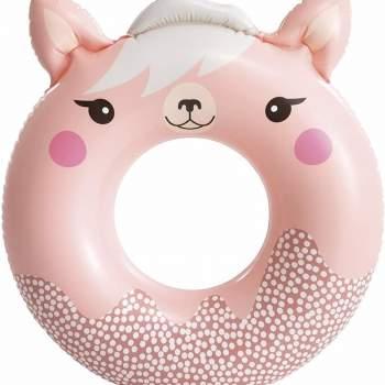 Intex 59266-pink, надувний круг Милі звірята, 84x76 см Рожевий