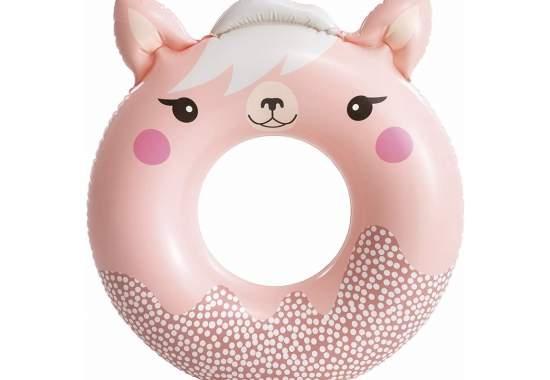Intex 59266-pink, надувной круг Милые зверята, 84x76 см Розовый
