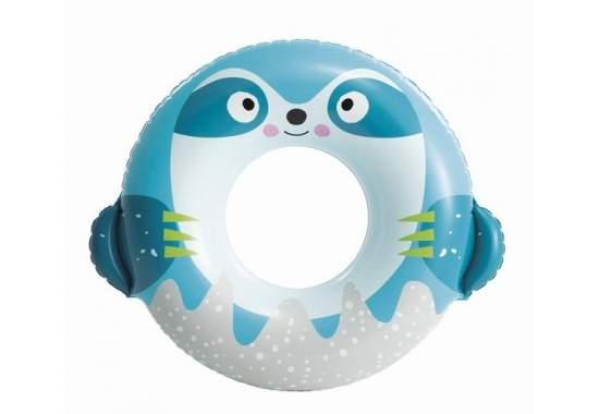 Intex 59266-blue, надувной круг Милые зверята, 91x76 см Голубой