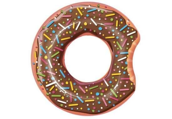 Bestway 36118-brown, надувной круг Шоколадный Пончик, 107 см