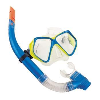 Bestway 24003-blue, набір для плавання, маска і трубка, від 14 років. Блакитний