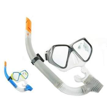 Bestway 24003-grey, набір для плавання, маска і трубка, від 14 років. Сірий