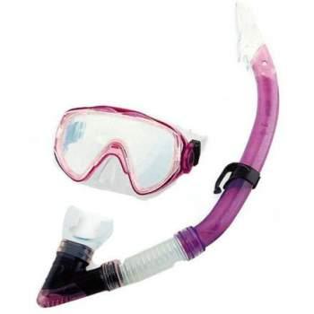Bestway 24004-violet, набір для плавання, маска і трубка, від 14 років. Фіолетовий