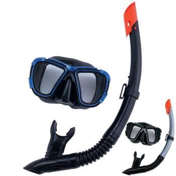 Bestway 24021-blue, набір для плавання, маска і трубка, від 14 років. Блакитний
