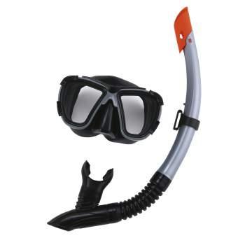 Bestway 24021-grey, набір для плавання, маска і трубка, від 14 років. Сірий