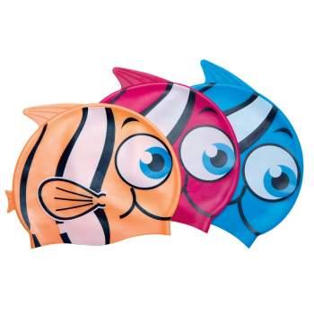 Bestway 26025-orange, шапочка для плавання. Рибка, від 3 років. Оранжевий