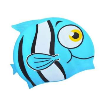 Bestway 26025-blue, шапочка для плавання. Рибка, від 3 років. Блакитний
