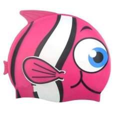 Bestway 26025-pink, шапочка для плавання. Рибка, від 3 років. Трояндовий