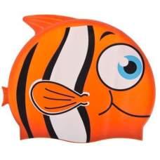 Bestway 26025-orange, шапочка для плавания. Рыбка, от 3 лет. Оранжевая
