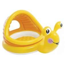 """Intex 57124, надувний дитячий басейн з навісом """"лінивий равлик"""""""