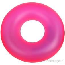 Intex 59262-pink, надувний круг неоновий, 91см. Рожевий