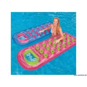 Intex 59895-blue, надувной матрас для плавания. Голубой