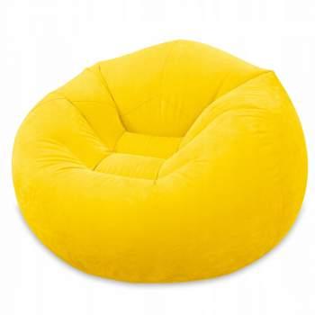 Intex 68569-yellow, надувное кресло 107 x 104 x 69 см, желтое