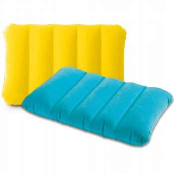 Intex 68676-yellow, надувная подушка, голубая