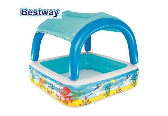 Bestway 52192, надувной детский бассейн с навесом