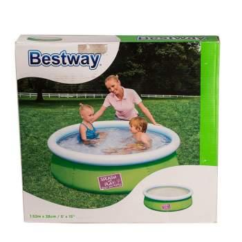 Bestway 57241-green, надувний басейн, 152x38см. Зелений