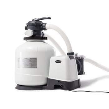 Intex 26676, песочный насос-фильтр-хлоргенератор, 6000 л/ч, 7 г/ч (28676)