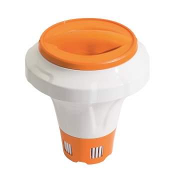 Bestway 58474-orange, Поплавок дозатор з кришкою-рукавичкою для великих хлор-таблеток