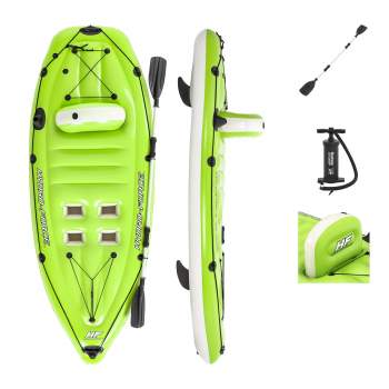 Bestway 65097, Надувная лодка-каяк Koracle, 270x100см, весло, насос