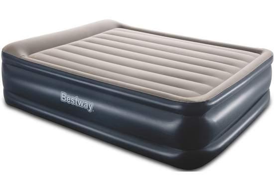 Bestway 67614, надувне ліжко 203 x 152 x 56 см з підголовником