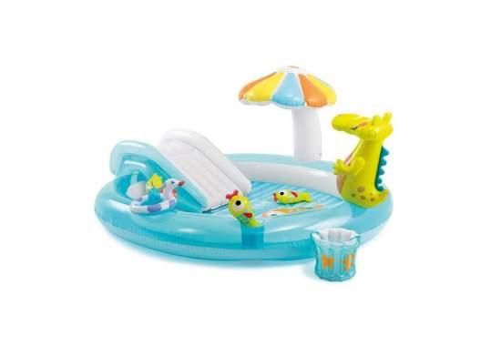 Intex 57165, детский надувной центр бассейн Аллигатор