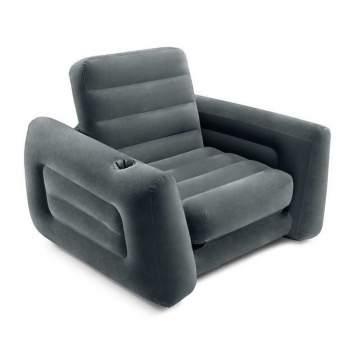 Intex 66551, надувное кресло 117 x 100 x 66 см раскладное (68565)