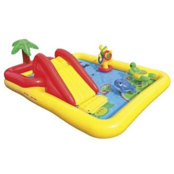 Intex 57454, дитячий надувний центр з гіркою Аквапарк