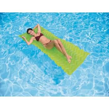 Intex 58807-green, надувний матрац для плавання. Жовтий, 229х86см