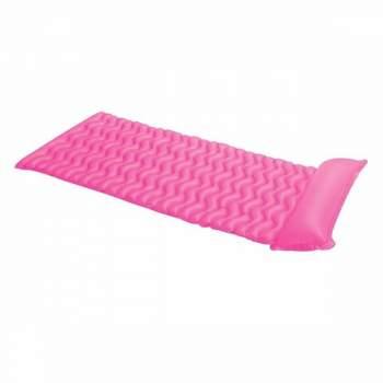 Intex 58807-pink, надувний матрац для плавання. Помаранчевий, 229х86см