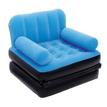 Bestway 67277-blue, надувное кресло 191 x 97 x 64 см раскладное, голубое