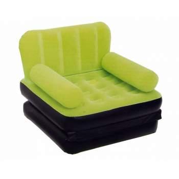 Bestway 67277-green, надувне крісло 191 x 97 x 64 см розкладне, зелене