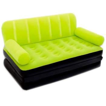 Bestway 67356-green, надувний диван трансформер 188 x 152 x 64 см. Зелений